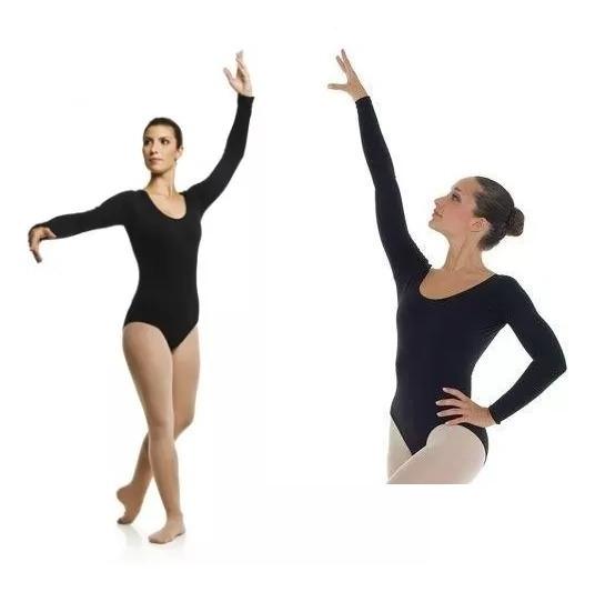 5a3e721b64 Collant Danca Ballet Manga Longa Adulto - R$ 946,00 em Mercado Livre