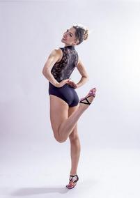 cae16ab168 Collant Ballet Renda Preto no Mercado Livre Brasil