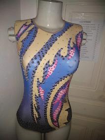 2d2a6db6a Collant Bordado De Ginastica Ritmica Colorido no Mercado Livre Brasil