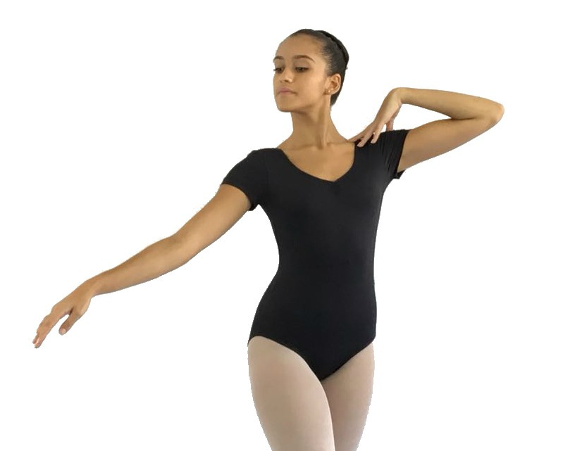 7227dc5fef Collant Meia Manga Adulto Preto Ballet