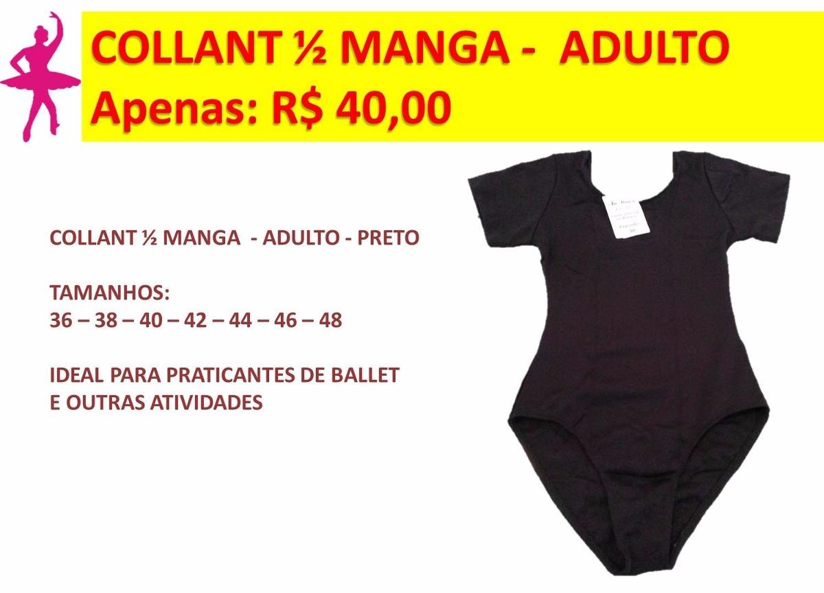 ae0b1aea35 collant meia manga de helanca - ballet adulto - roupa ballet. Carregando  zoom.