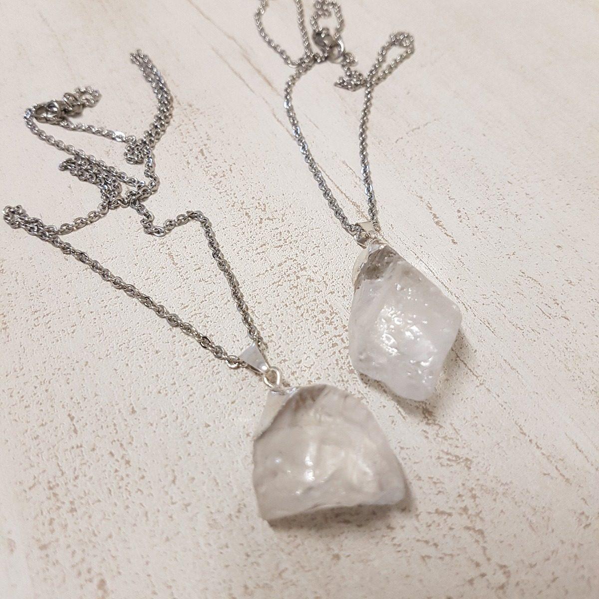 dd9b64601e92 collar acero quirurgico dije cuarzo cristal piedra natural. Cargando zoom.