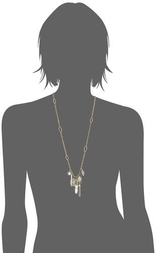 collar afortunado del encanto del guijarro de la marca
