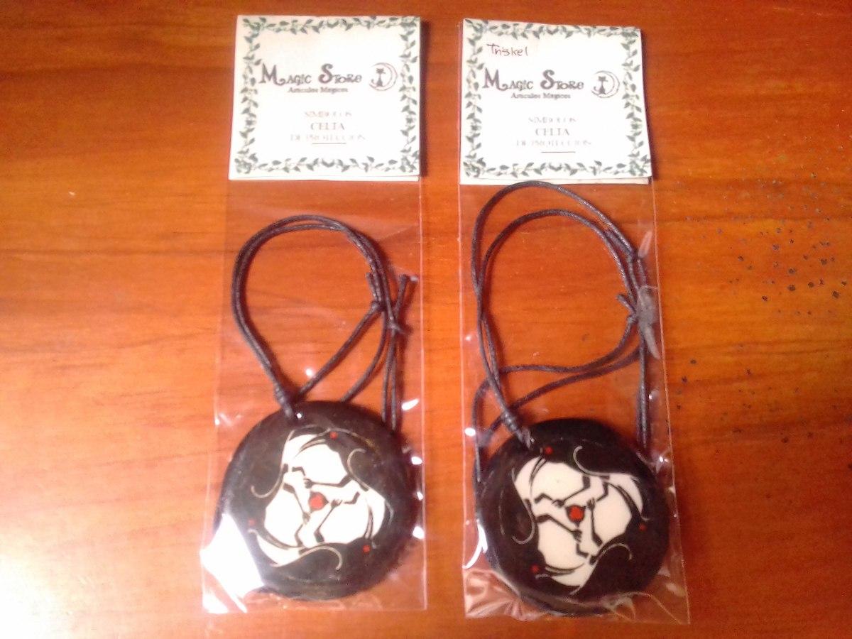 collar amuleto celta trisquel triskel equilibrio armonia