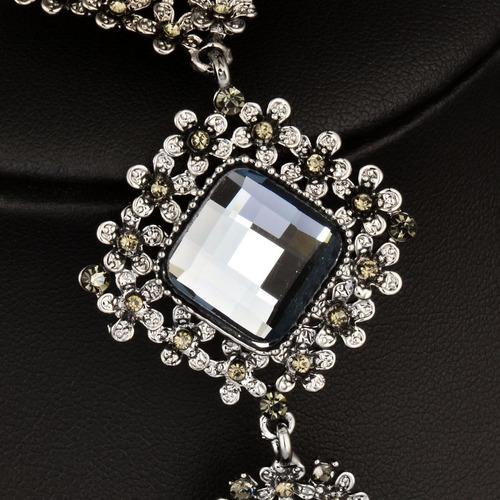 collar amuleto flores de lujo + cadena + caja
