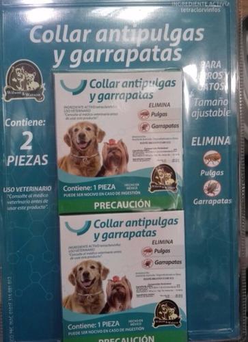 collar antipulgas y garrapatas para perros y gatos 2pz