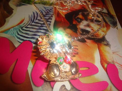 collar aperlado de hello kitty 2016