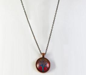 bf2326612754 Collar Arbol Colgante Joyas Anillos Bisuteria Cadena Aretes