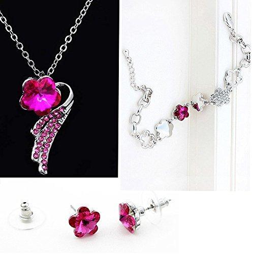 eced2466af60 collar are joyas · conjunto de joyas majesto - collar rosa pulsera colgante  are