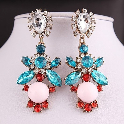 a1805f31a03f Collar Aretes Maxi Grande Elegante Para Vestido Nuevo Stock - S  40 ...