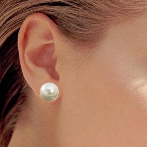 e48c553ff9bd Collar Aretes Mujer Perlas Grandes Mallorca 14 Mm Chapa Oro ...