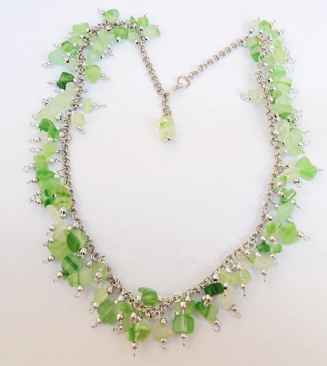 2895ef67b46b collar artesanal con agata verde natural. Cargando zoom.