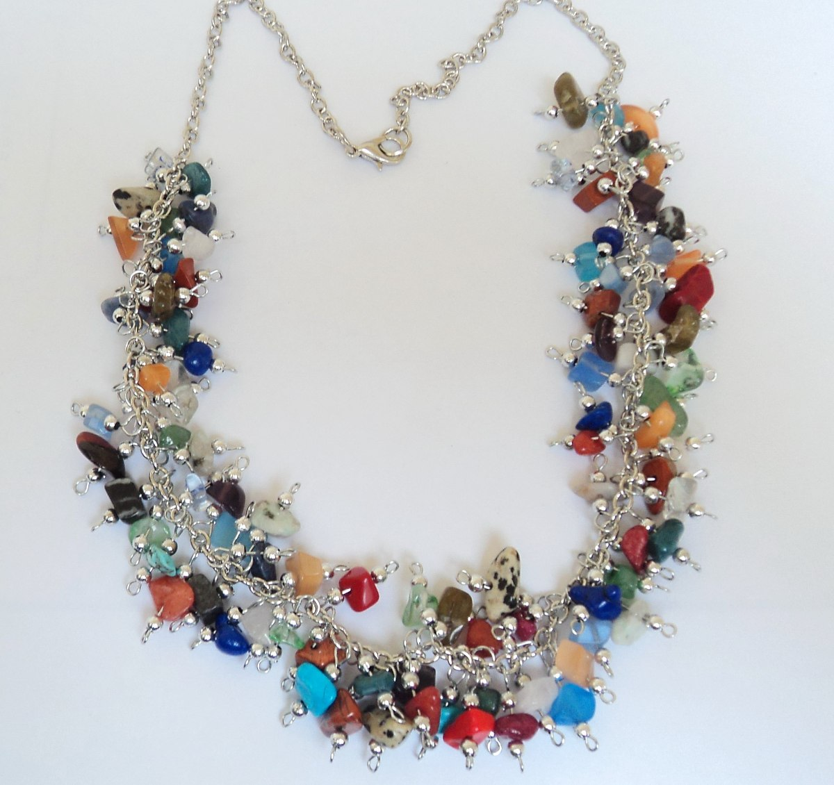 Collar Artesanal Con Piedras Semipreciosas Variadas Naturale