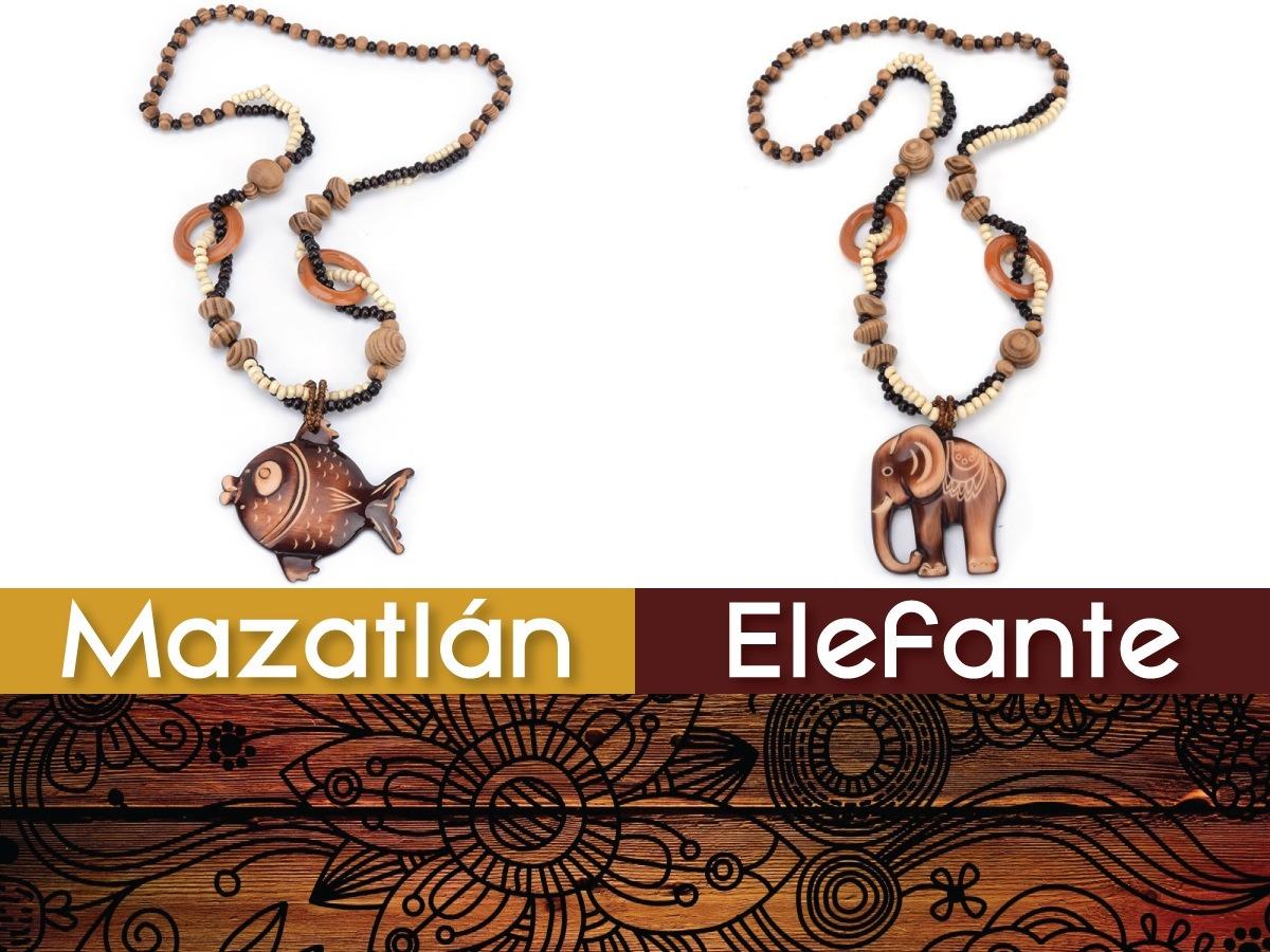 5836522ba964 Collar Artesanal De Madera + Precio De Mayoreo -   49.00 en Mercado ...