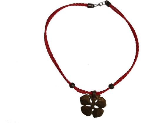 collar artesanal trébol hojas-envío gratis+cuotas s/interes