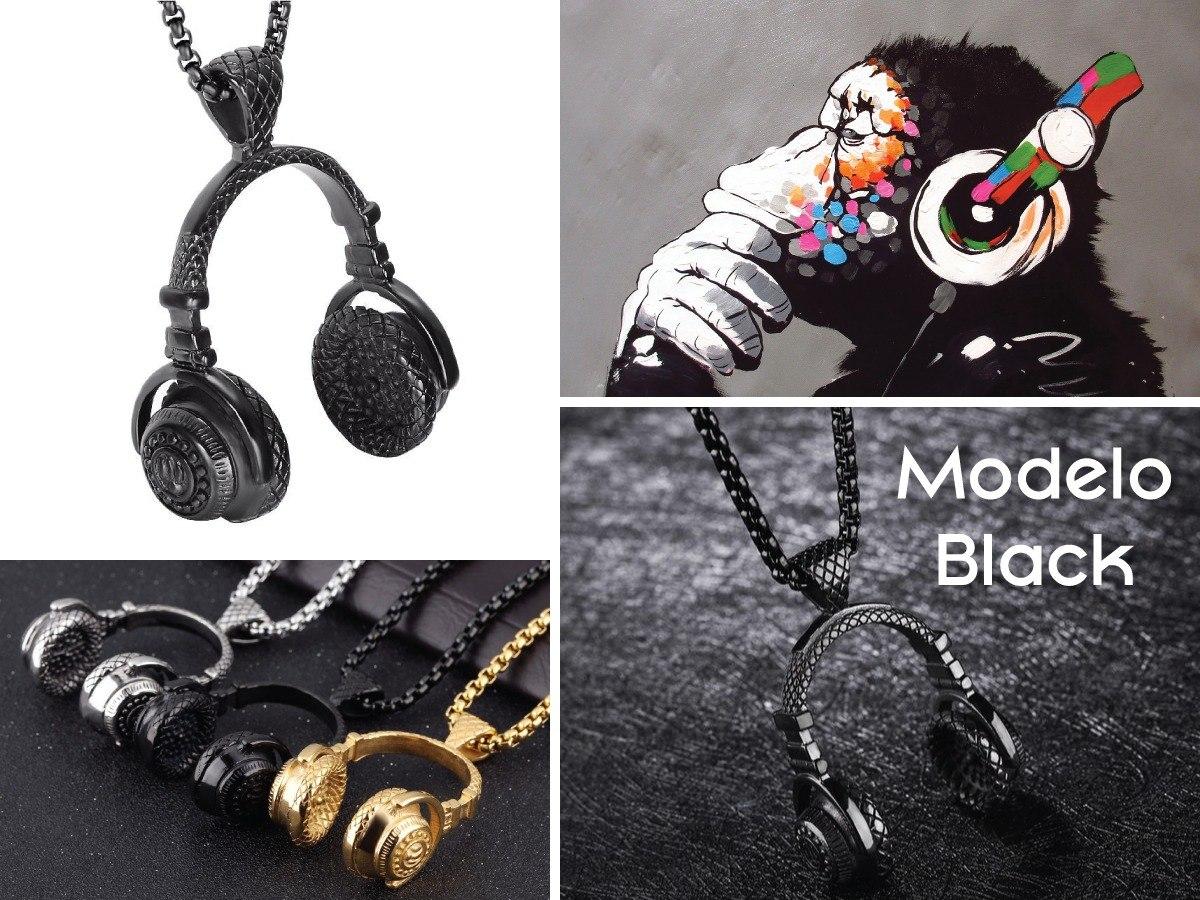 e4fc131fb9ef collar audífonos dj + titanio + cadena + precio de mayoreo. Cargando zoom.
