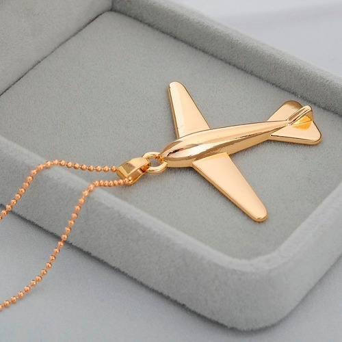 collar avión en metal para dama