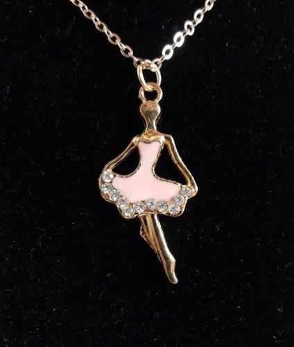collar bailarina ballet dorado con cristales