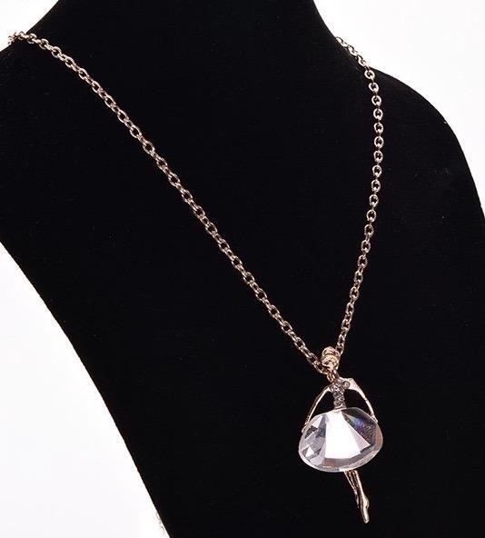 63a3fcb8abd6 Collar Bailarina De Ballet Con Cristal Bisuteria Blanca -   145.00 ...