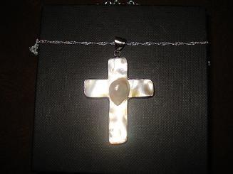 collar barroco, dije de autentica perla mabe y cadena
