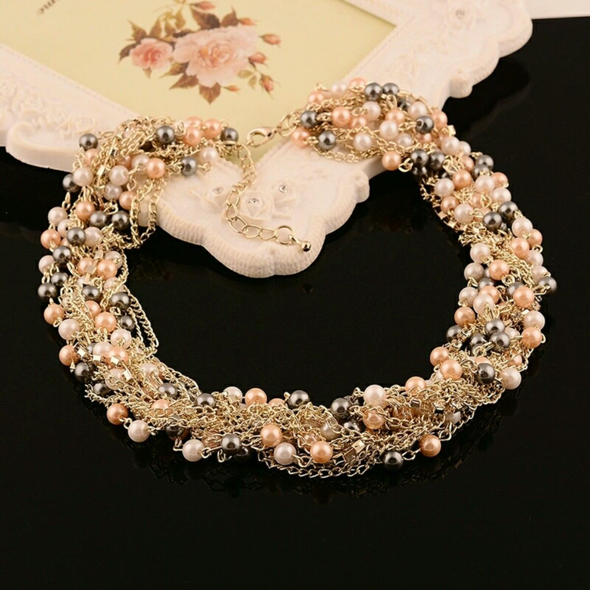 collar bisutería perlas gargantilla envío gratis
