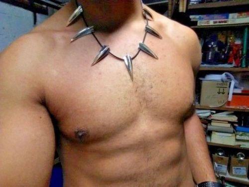 collar black panther metalico cosplay disfraz avenger marvel
