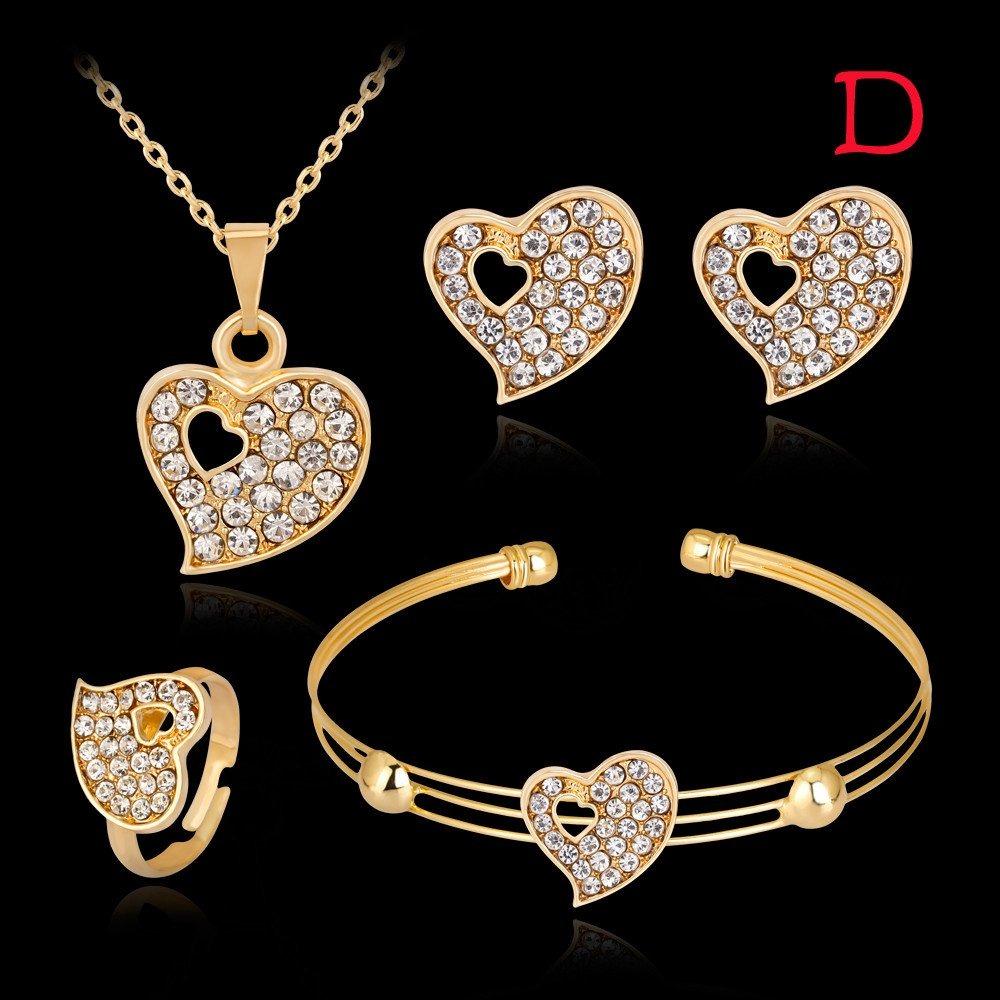 cd1fa22e3142 collar boda pulsera anillos pendientes set joyas dama mujere. Cargando zoom.
