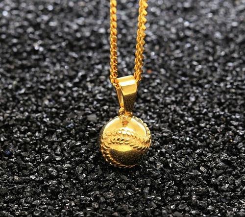 collar bola beisball oro laminado 14k envio gratis.