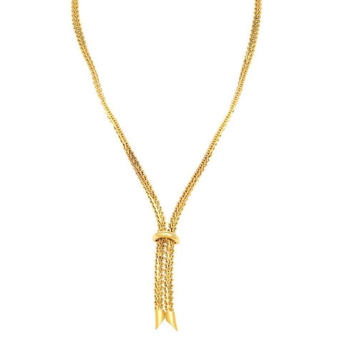 collar boleado oro amarillo. - 116841517