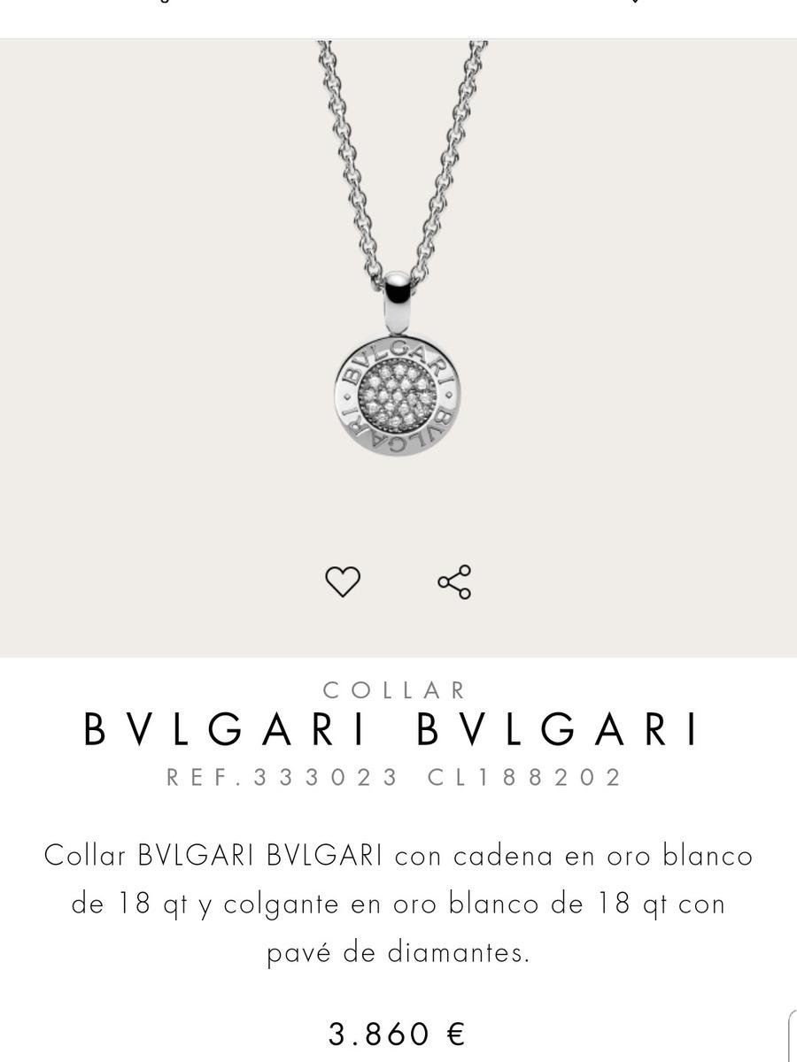 6362539eb41089 Collar Bvlgari Oro Brillantes Original Tous Tiffany Bvlgari ...