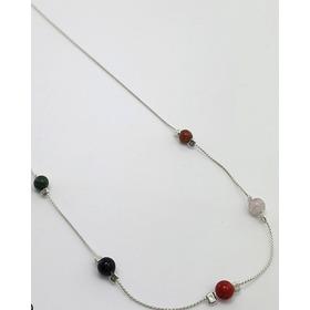 Collar/ Cadena En Plata 925, Con Piedras. Más Diseños.