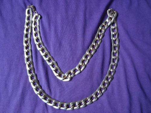 collar cadena francés eslabon tipo chanel bien largo