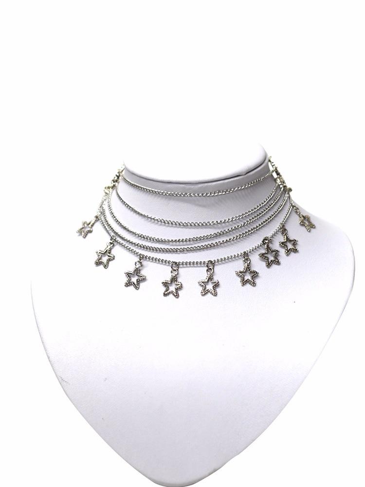 22b7e4b4d9d6 collar cadena gargantilla vueltas chocker corto mujer star. Cargando zoom.