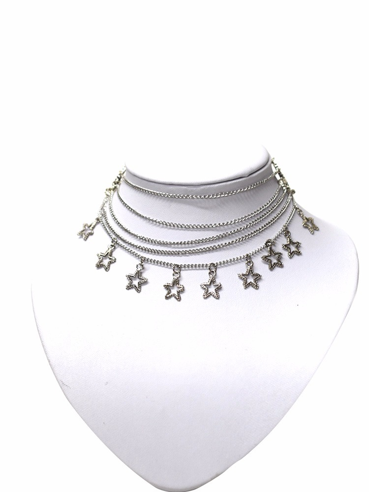 7322cce38e1f collar cadena gargantilla vueltas chocker corto mujer star. Cargando zoom.