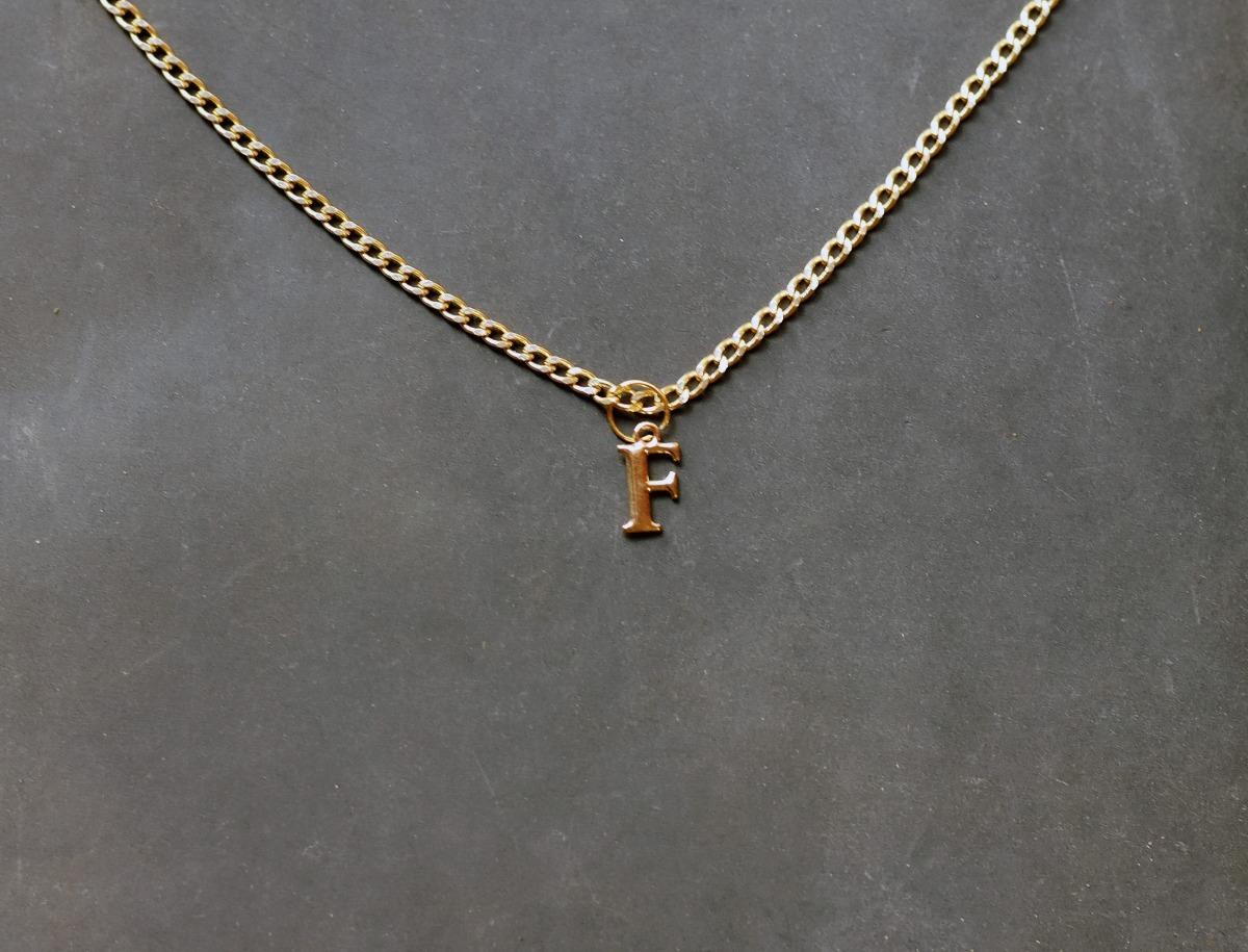 39b82123d605 collar cadena letra f mayoreo dije moda bisuteria barato. Cargando zoom.