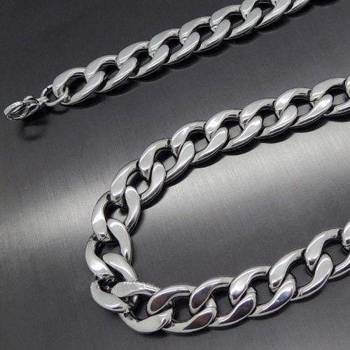 collar cadena lujosa fashion, acero inoxidable 316