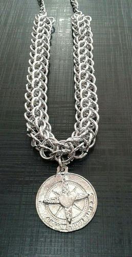 collar cadena medieval con dije!!
