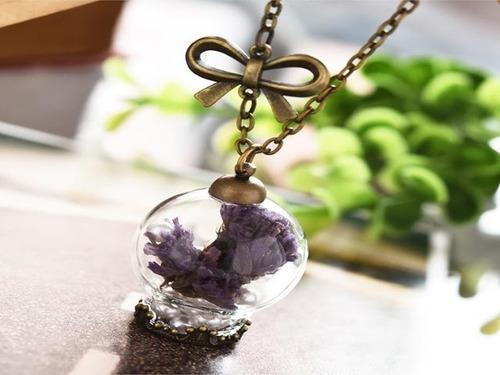 collar cadena mujer colgante imitación de perlas vintage