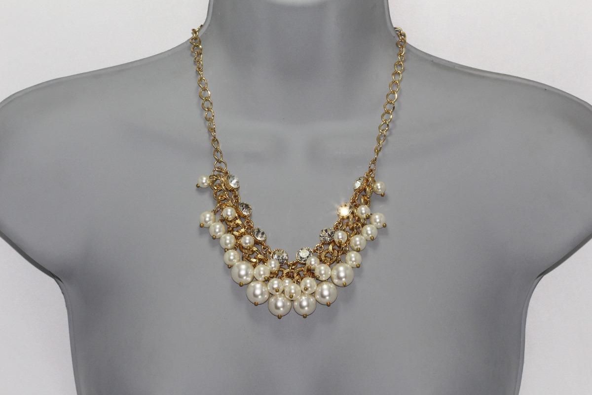 Imagenes de collares con cadena y perlas
