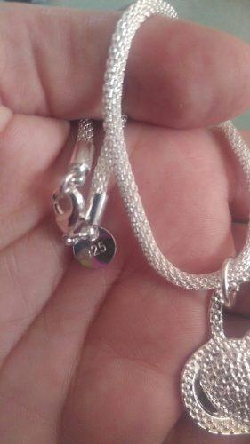 c558e4fec65d Collar Cadena Plata S925 Corazón Regalo Para Mujer Con Caja ...