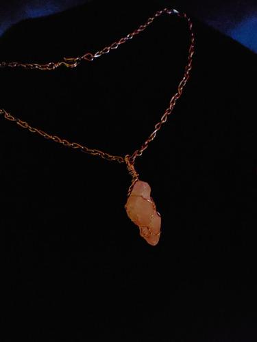 collar cadenita alpaca cuarzo rosa 6