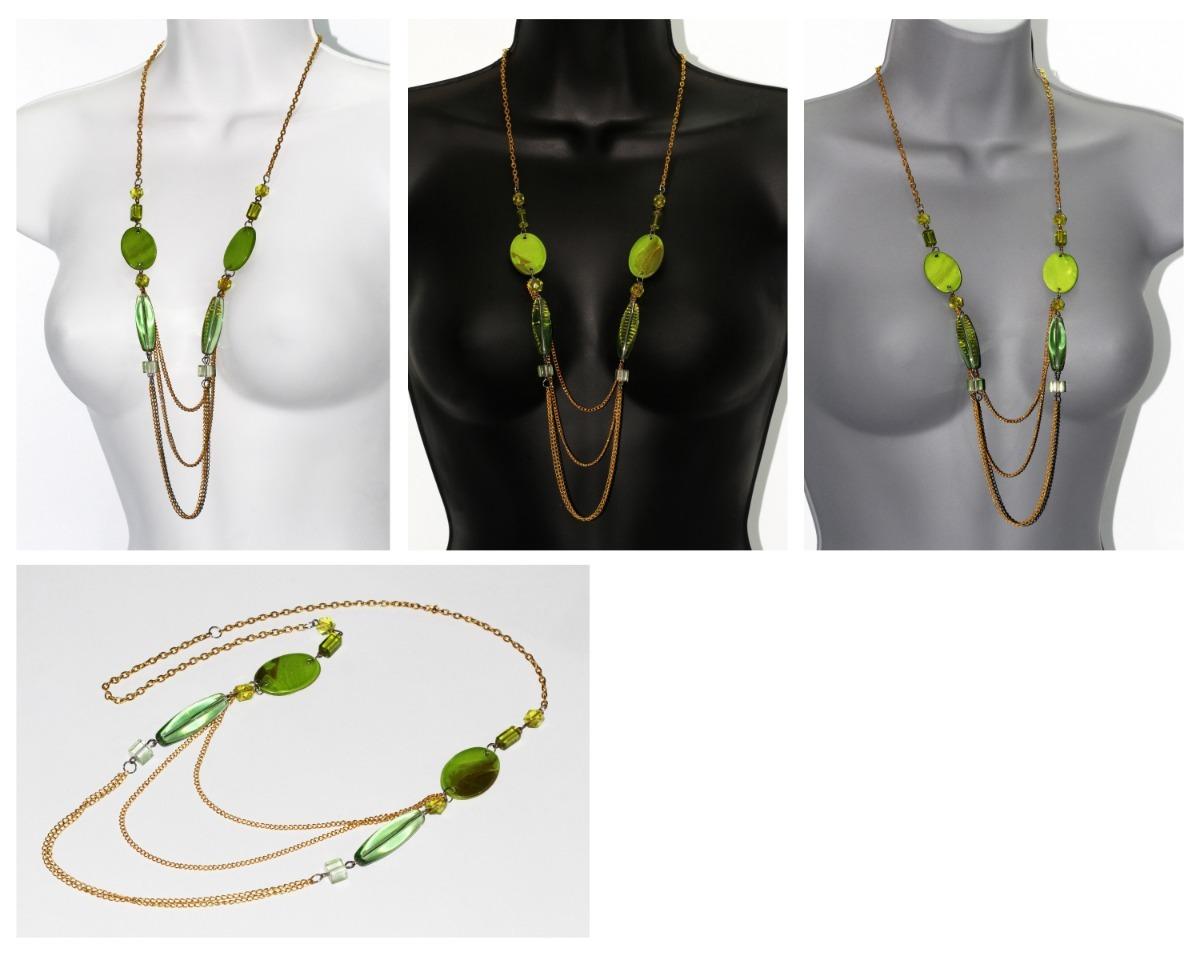 b774f09a1658 Collar Casual Moda Dorado Verde Bisutería Dama Cc688 -   49.99 en ...