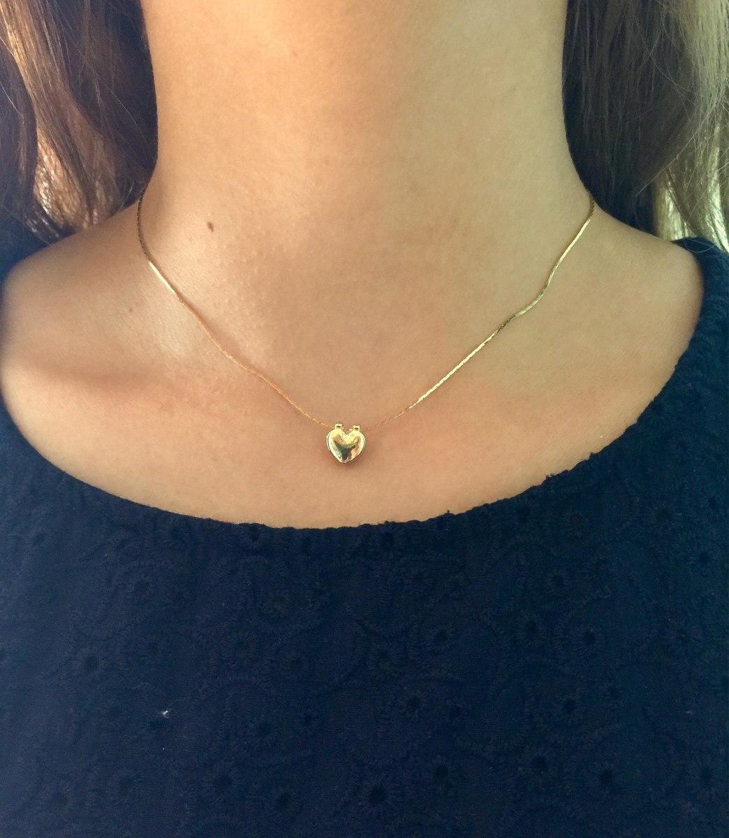 611cdd9783b6 Collar Chapa De Oro 10k Iniciales Perla Corazón -   250.00 en ...