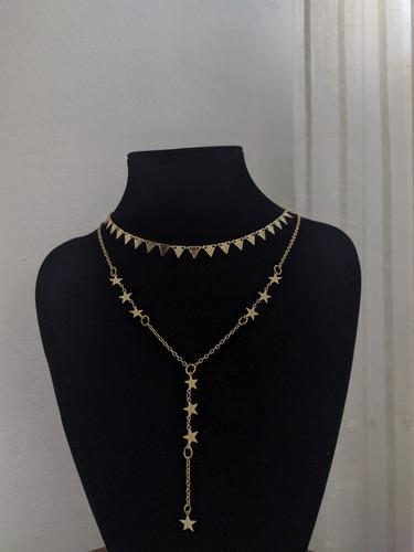 collar chokers para damas. material goldfield