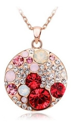 collar circulo cristales swarovski elements