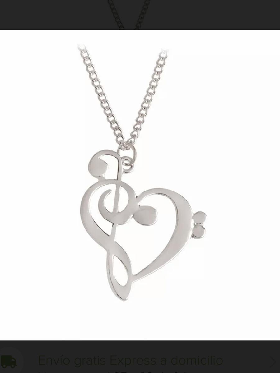 Collar Clave De Sol Corazón Musicos Nota Musical Fa Pianista