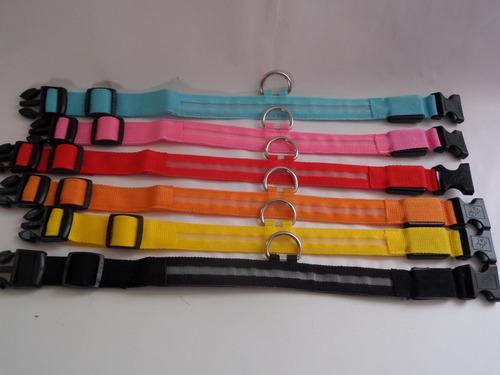 collar c/luz led recarable p/perro, máxima seguridad visible