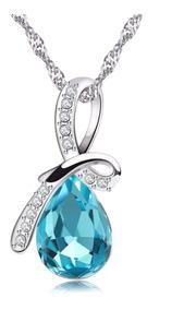 8bb4b630204d Collar Colgante Cristal Swarovski Baño Plata 925/ Todojoyas