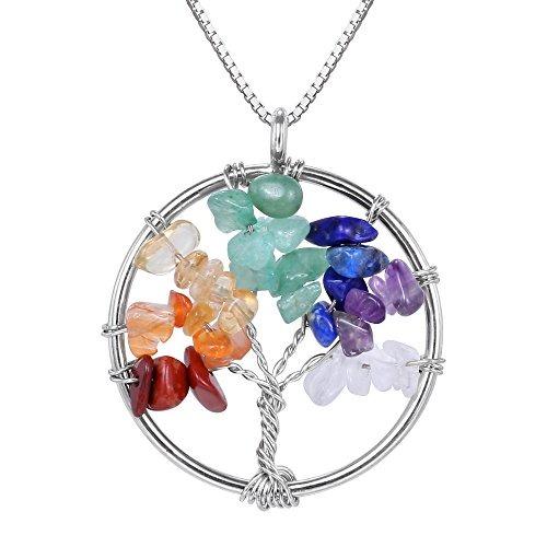 Estados Unidos calidad de marca comprar Collar Colgante De Piedras Preciosas Semipreciosas De Árbol