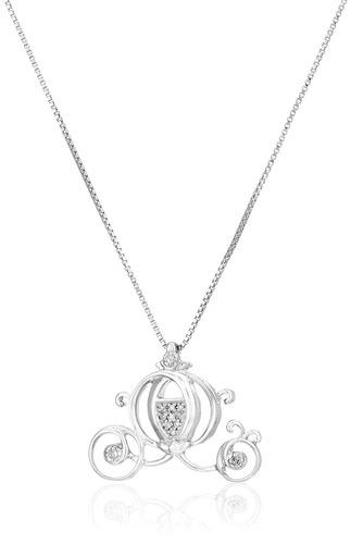 collar colgante de plata de ley sterling diamond cinderella,